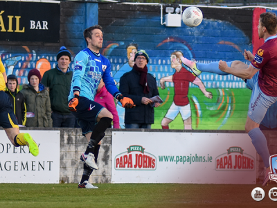 Vinny Faherty Galway United lob v Longford Town - 30-4-16
