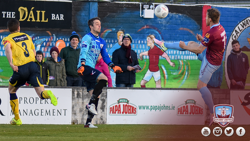 Vinny Faherty Galway United lob v Longford Town - 30-4-16