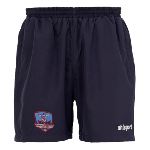 crested navy galway united shorts